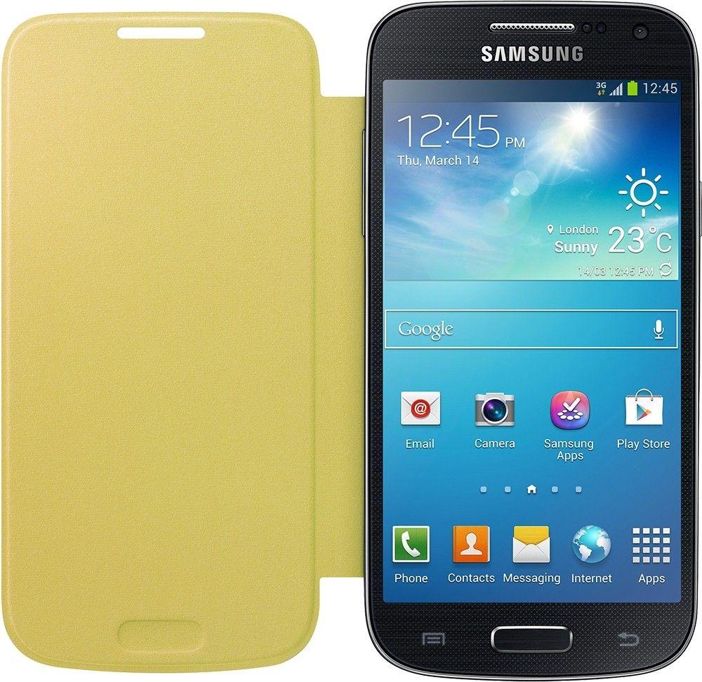 Чехол-книга Samsung для Galaxy S4 Mini Yellow (EF-FI919BYEGWW) - 1