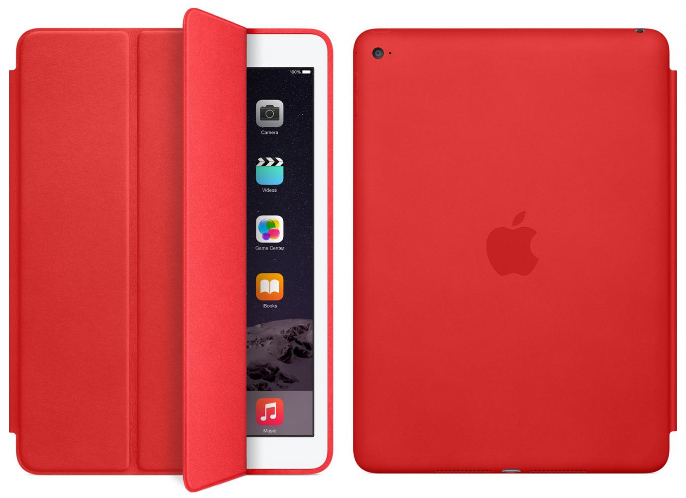 Чехол-книжка Apple Smart Case Leather для iPad Air 2 (High Copy) Red - 2