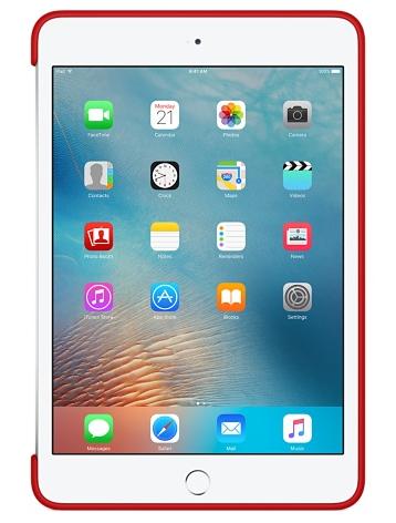 Силиконовый чехол Apple Silicone Case для  iPad mini 4 (MKLN2ZM/A) Red - 2