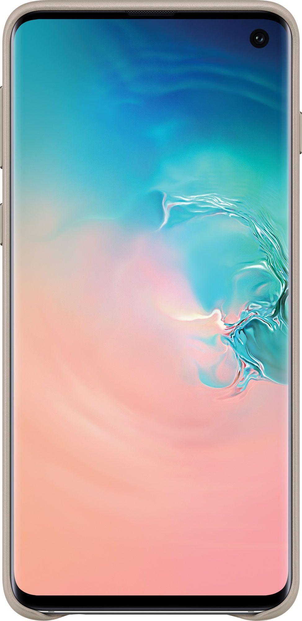 Панель Samsung Leather Cover для Samsung Galaxy S10 (EF-VG973LJEGRU) Gray от Територія твоєї техніки - 2