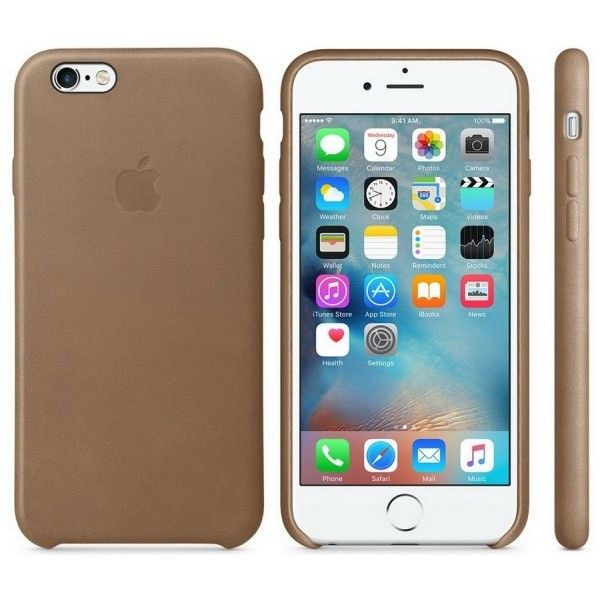 Чехол для Apple iPhone 6s Leather Case Brown (MKXR2ZM/A) - 3