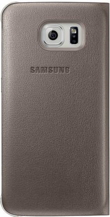 Чехол Samsung S View Zero для Samsung Galaxy S6 Gold (EF-CG920PFEGRU) - 1