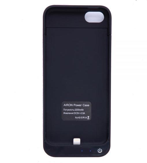 Чехол-аккумулятор AIRON Power Case для IPhone 5 Black - 1