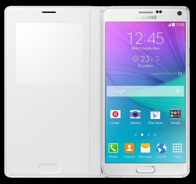 Чехол Samsung для Galaxy Note 4 S view EF-CN910FTEGRU White - 2