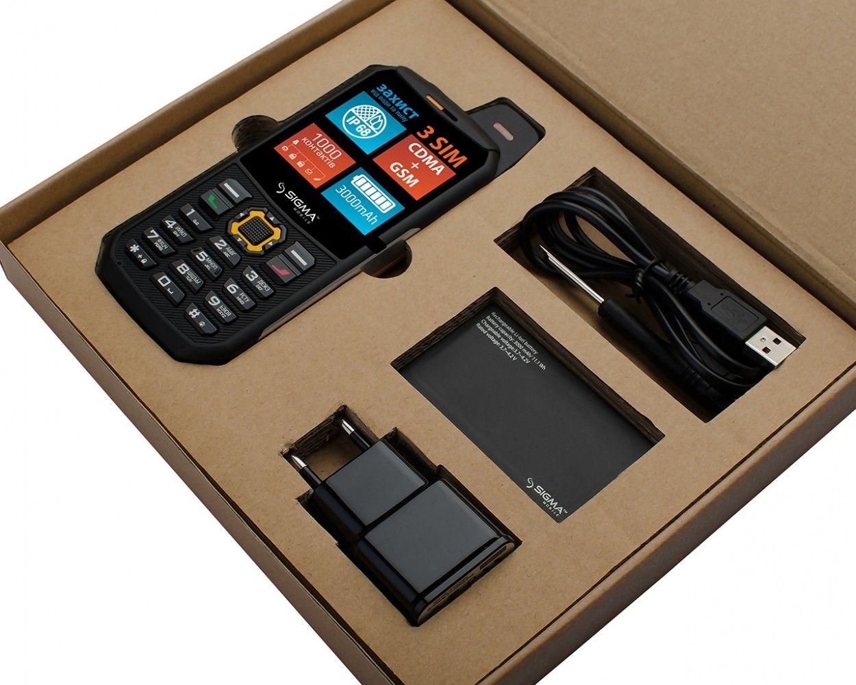Мобильный телефон Sigma mobile X-treme 3SIM Black-Orange - 1