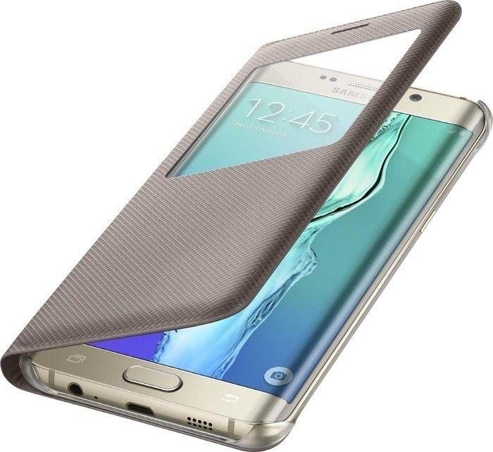 Чехол Samsung S View Cover для Samsung Galaxy S6 edge+ Gold (EF-CG928PFEGRU) - 3