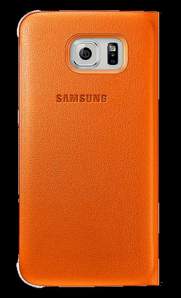 Чехол Samsung S View Zero для Samsung Galaxy S6 Orange (EF-CG920POEGRU) - 1