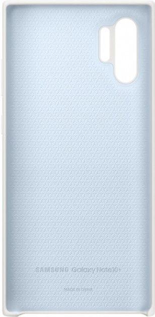 Накладка Samsung Silicone Cover для Samsung Galaxy Note 10 Plus (EF-PN975TWEGRU) White от Територія твоєї техніки - 3