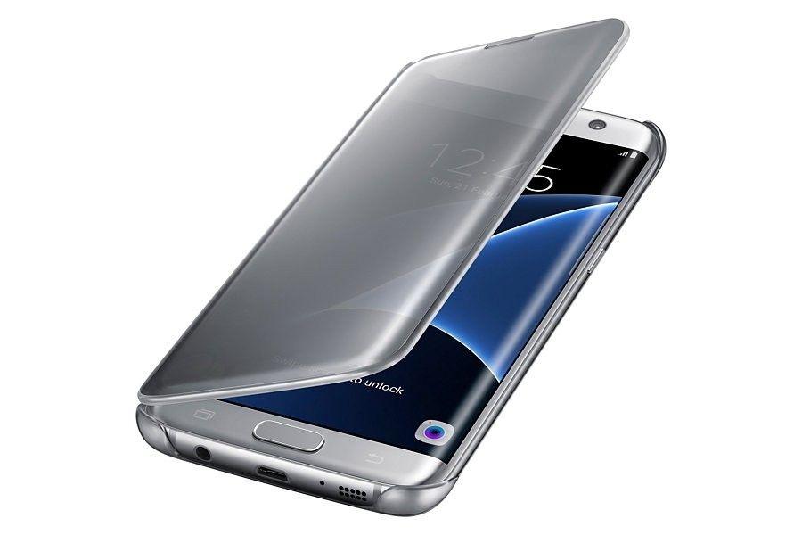Чехол Samsung Clear View Cover для Galaxy S7 Edge Silver (EF-ZG935CSEGRU) - 2