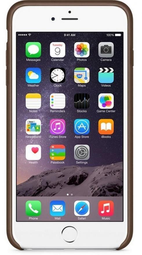 Чехол для Apple iPhone 6 Plus Leather Case Olive Brown (MGQR2ZM/A) - 1