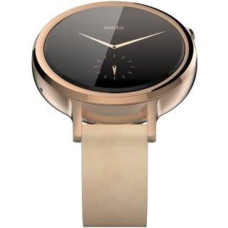 Смарт часы Motorola Moto 360 2nd Generation Smartwatch 42mm Stainless Steel with Rose Gold Leather Strap - 3