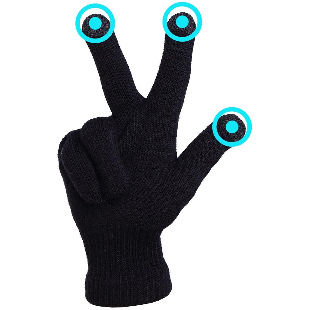 Перчатки для сенсорных экранов iGlove Черные - 3