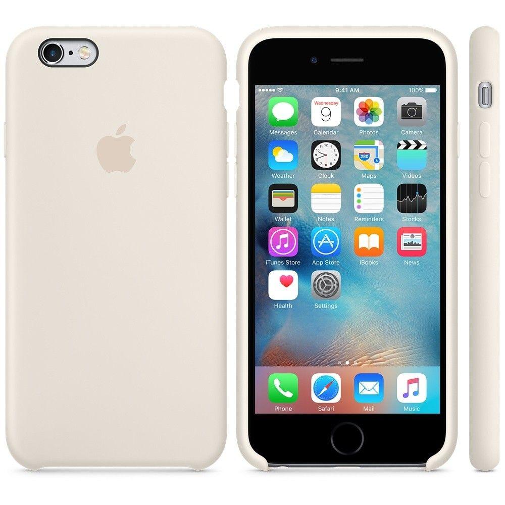 Силиконовый чехол Apple iPhone 6s Plus Silicone Case (MLD22) Antique White - 2