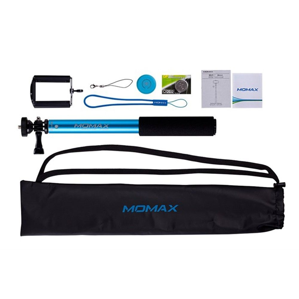 Монопод для селфи MOMAX Selfifit Bluetooth Selfie Pod 90cm Blue (KMS1NB) - 2