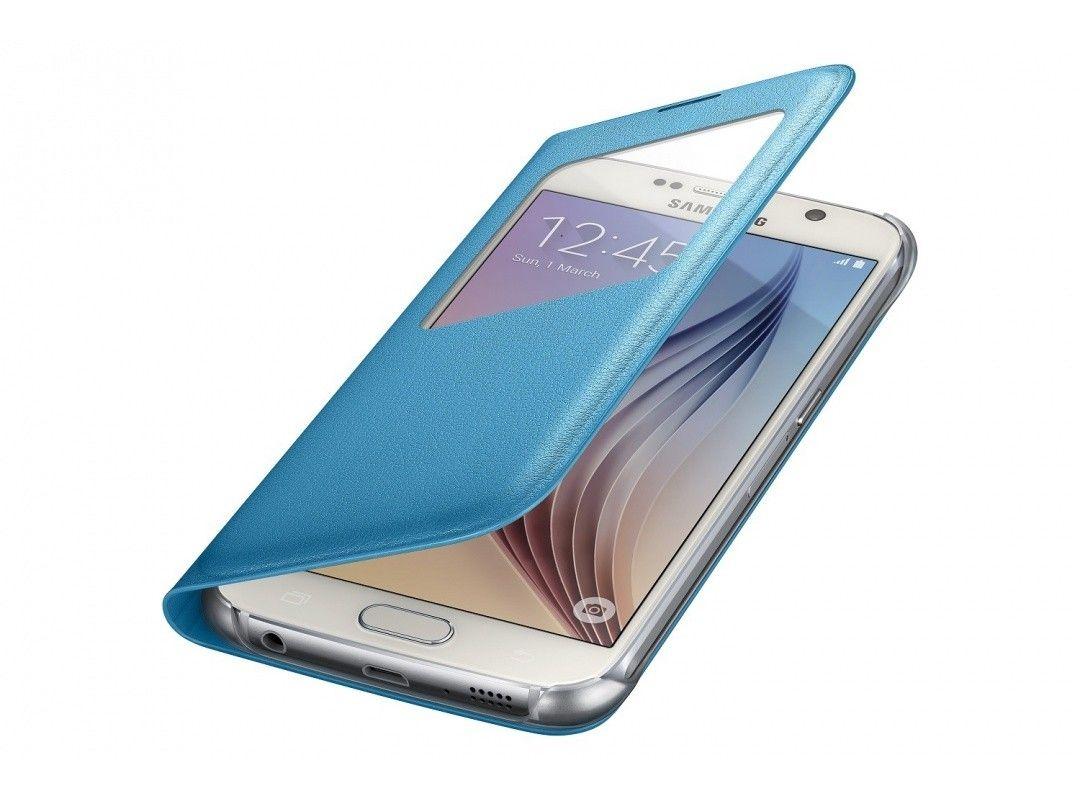 Чехол Samsung S View Zero для Samsung Galaxy S6 Blue (EF-CG920PLEGRU) - 3