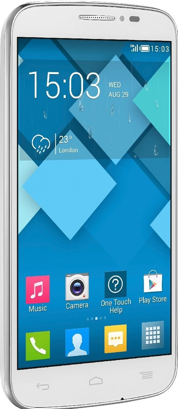 Мобильный телефон Alcatel One Touch 7041D POP C7 Dual Sim White - 4