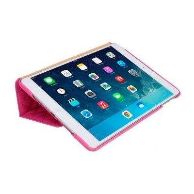 Чехол-книжка для iPad Jison Quilted Leather Smart Case (JS-ID5-02H33) Rose Red for iPad Air/Air 2 - 4