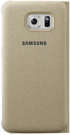 Чехол Samsung S View Zero для Samsung Galaxy S6 Gold (EF-CG920BFEGRU) - 1
