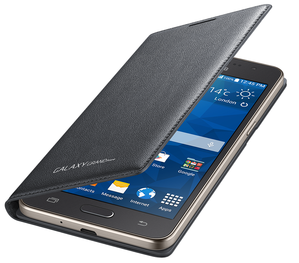 Чехол Samsung для Grand Prime Flip Wallet EF-WG530BSEGRU Charcoal - 3