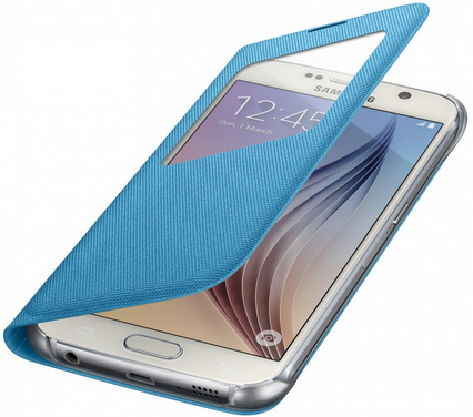 Чехол Samsung S View Zero для Samsung Galaxy S6 Blue (EF-CG920BLEGRU) - 3