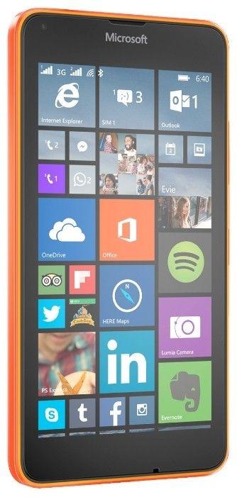 Мобильный телефон Microsoft Lumia 640 Dual Sim Orange - 1