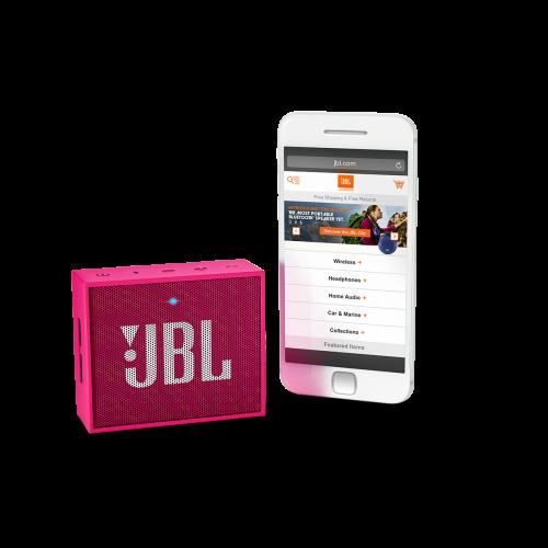 Портативная акустика JBL GO Pink - 2