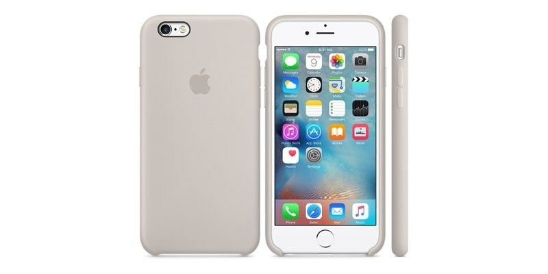 Панель Apple iPhone 6s Silicone Case Stone (MKY42ZM/A) - 2