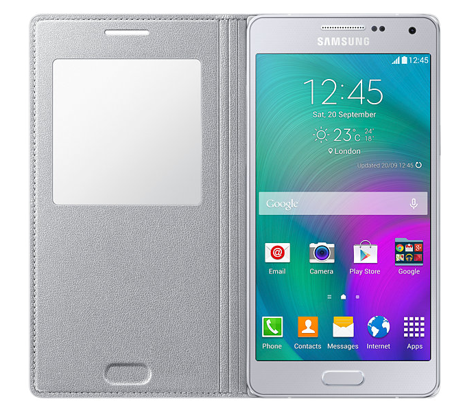 Чехол Samsung S View для Samsung Galaxy A5 500 Silver (EF-CA500BSEGRU) - 2