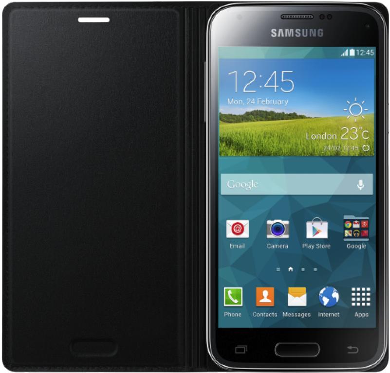 Чехол Samsung для S5 mini EF-FG800BBEGRU Black - 1