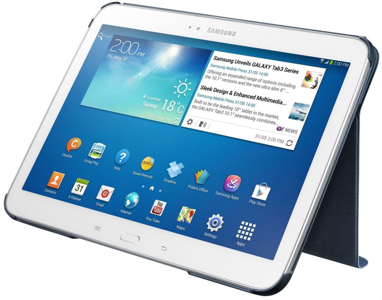 Обложка Samsung для Galaxy Tab 3.0 10.1 Regal Blue (EF-BP520BLEGWW) - 1