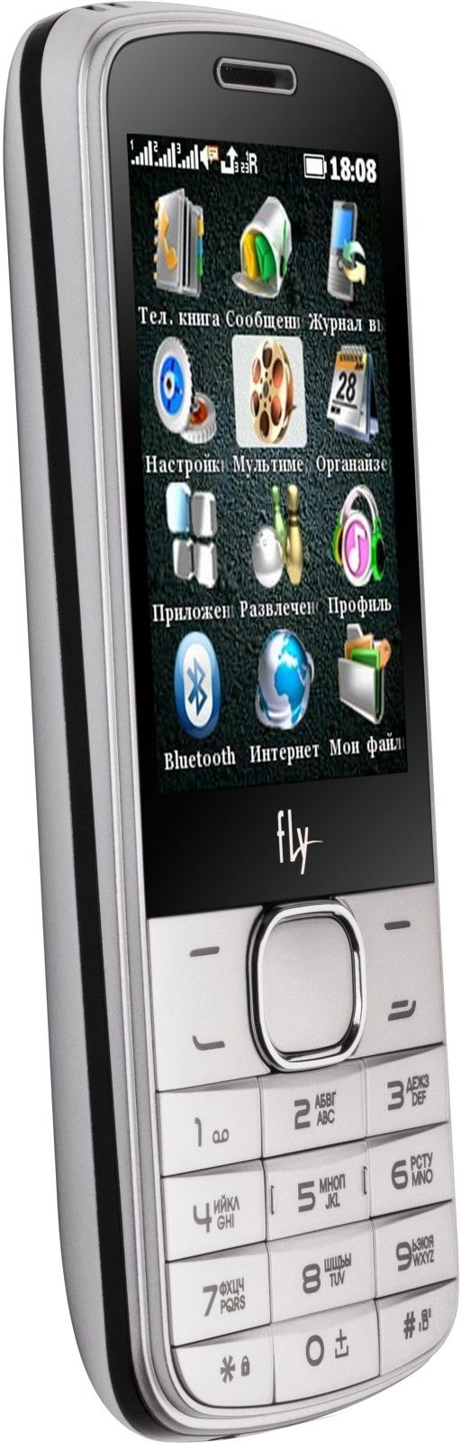 Мобильный телефон Fly TS111 White - 2