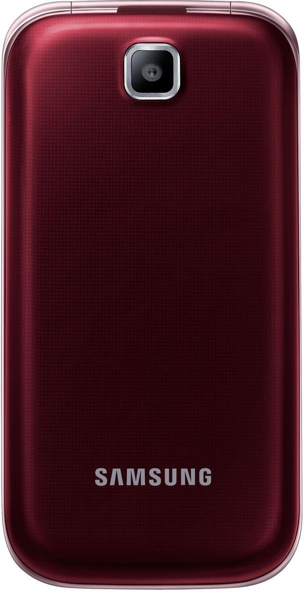 Мобильный телефон Samsung C3592 Wine Red - 1