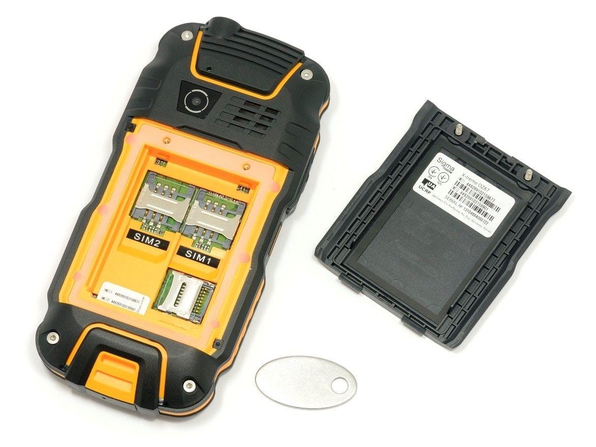 Мобильный телефон Sigma mobile X-treme DZ67 Travel Orange Black - 4