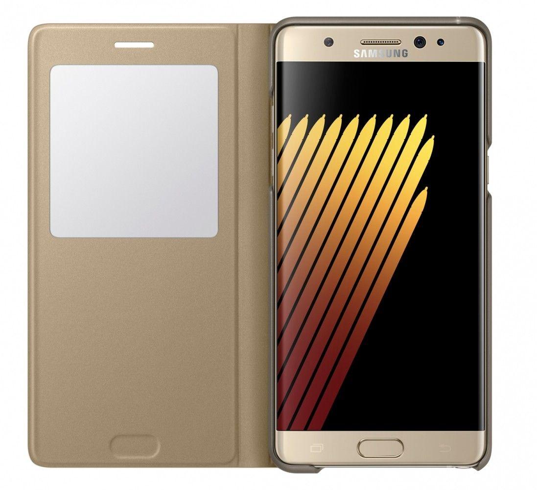 Чехол Samsung S View Cover для Samsung Galaxy Note 7 Gold (EF-CN930PFEGRU) - 2