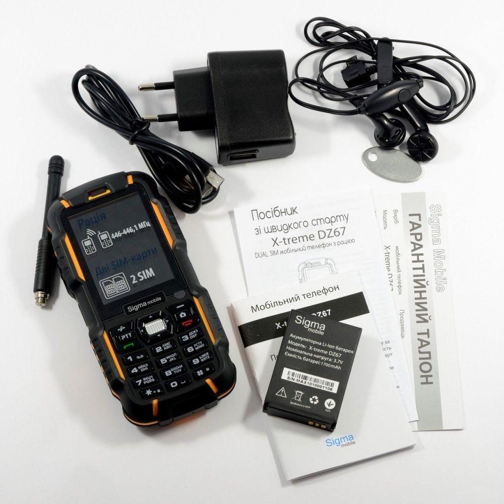 Мобильный телефон Sigma mobile X-treme DZ67 Travel Orange Black - 7