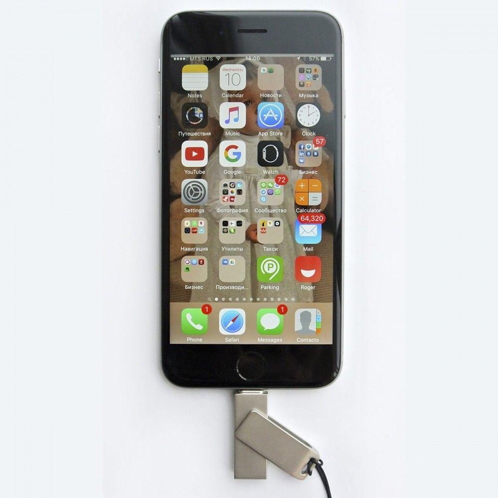 USB флеш-накопитель Elari SmartDrive 128GB (USB/Lightning) Silver (ELSD128GB) - 4