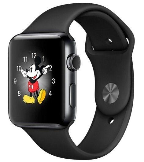 Смарт часы Apple Watch Series 2 38mm Space Black Stainless Steel Case Black Sport Band - 1