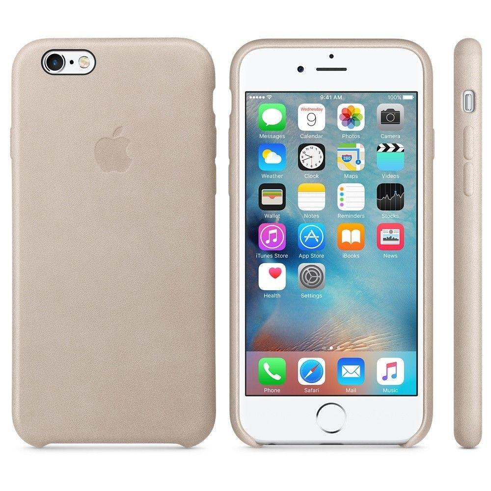 Чехол для Apple iPhone 6s Plus Leather Case Rose Gray (MKXE2) - 3