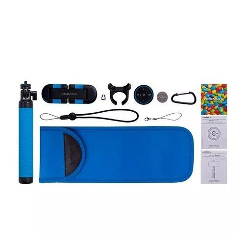 Монопод для селфи MOMAX Selfie Hero Bluetooth Selfie Pod 70cm Blue/Black (KMS6D) - 1