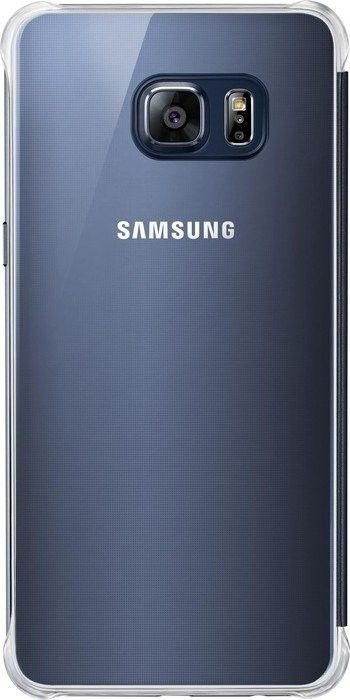 Чехол Samsung Clear View Cover для Samsung Galaxy S6 edge+ Black (EF-ZG928CBEGRU) - 1