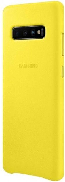 Панель Samsung Leather Cover для Samsung Galaxy S10 Plus (EF-VG975LYEGRU) Yellow от Територія твоєї техніки - 3