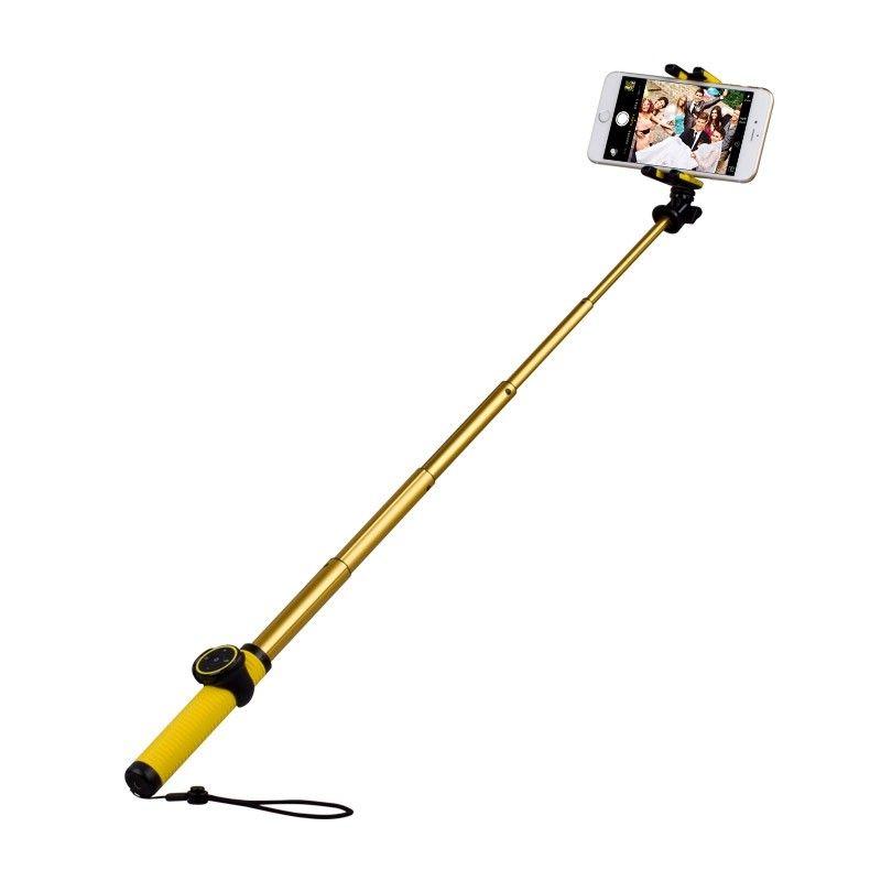 Монопод для селфи MOMAX Selfie Hero Bluetooth Selfie Pod 100cm Yellow/Gold (KMS7L) - 1