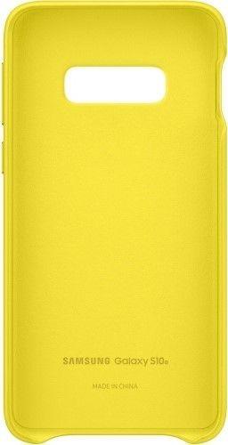 Панель Samsung Leather Cover для Samsung Galaxy S10e (EF-VG970LYEGRU) Yellow от Територія твоєї техніки - 4