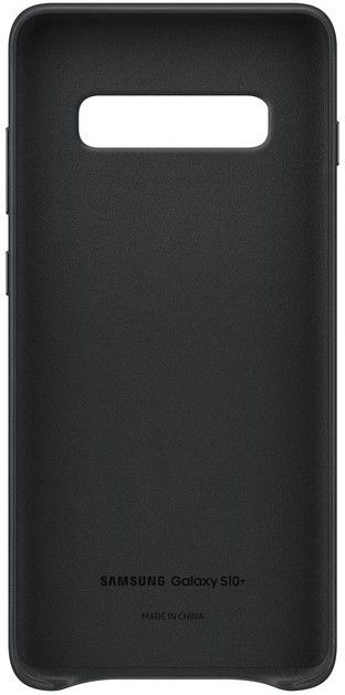 Панель Samsung Leather Cover для Samsung Galaxy S10 Plus (EF-VG975LBEGRU) Black от Територія твоєї техніки - 4