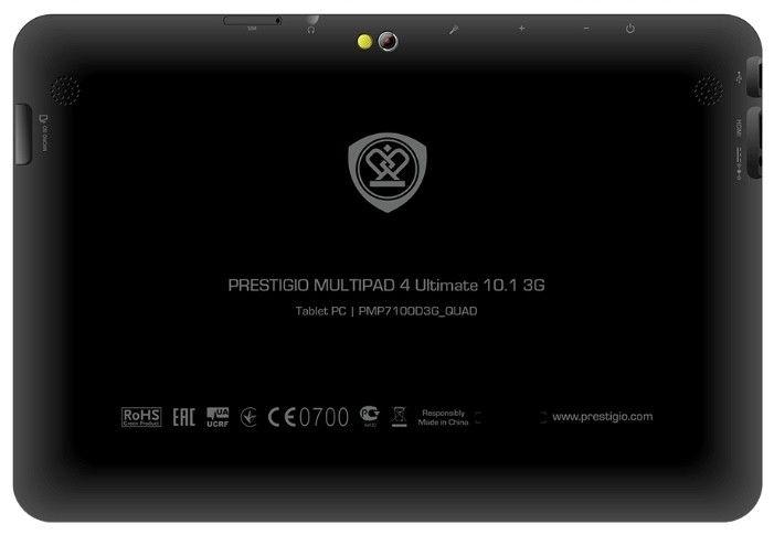 Планшет Prestigio MultiPad 4 Ultimate 10.1 3G Black (PMP7100D3G_QUAD) - 3