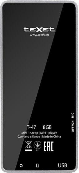 MP3-плеер Texet T-47 8GB Black - 2