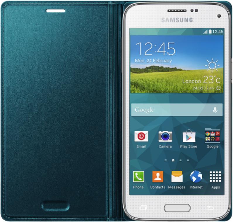 Чехол Samsung для S5 mini EF-FG800BGEGRU Green - 1