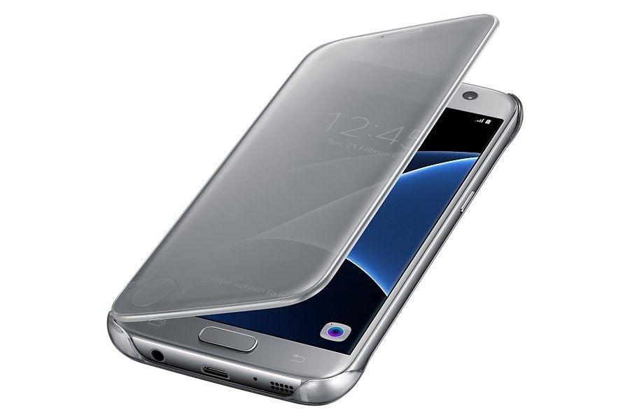 Чехол Samsung Clear Cover для Galaxy S7 Silver (EF-ZG930CSEGRU) - 1