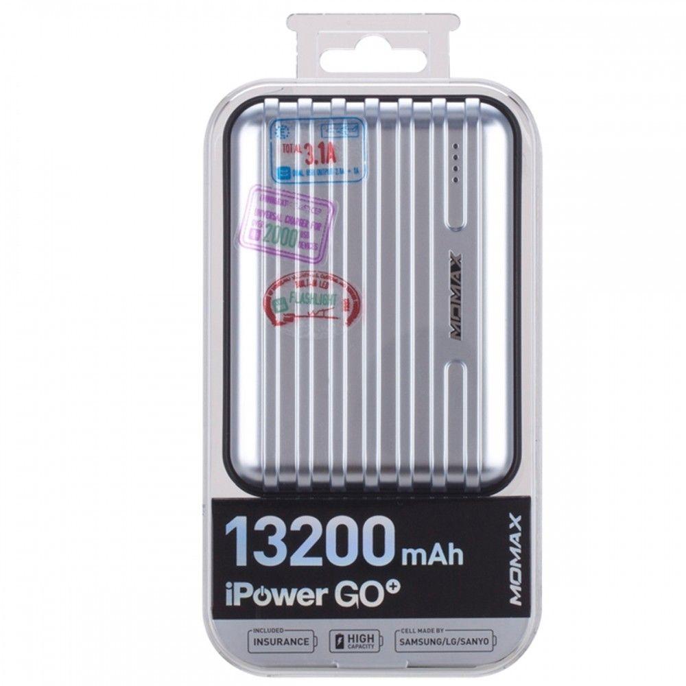 Портативная батарея MOMAX iPower GO+ Luggage External Battery Pack 13200mAh Silver (IP24APS) - 4