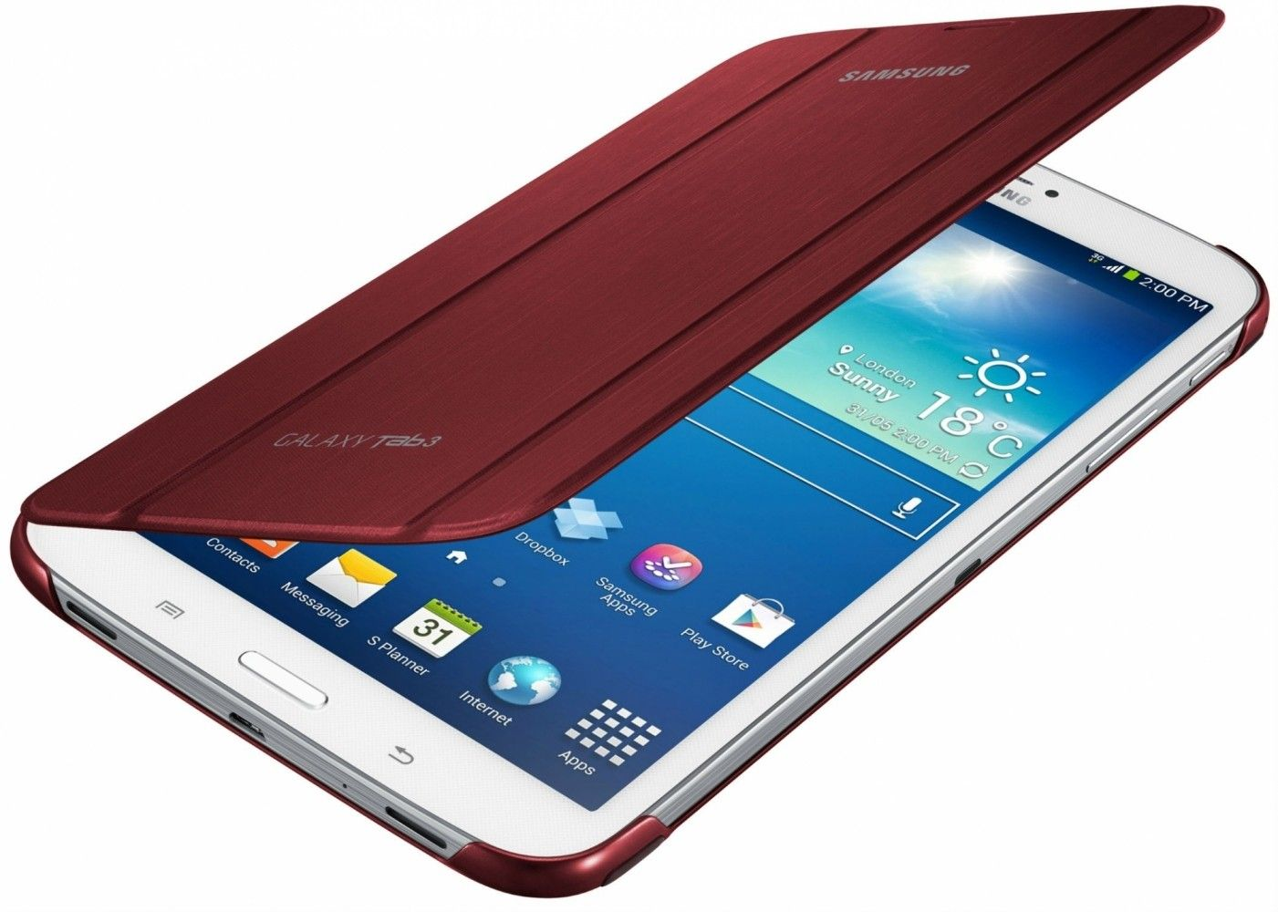 Обложка Samsung для Galaxy Tab 3 8.0 Garnet Red (EF-BT310BREGWW) - 1